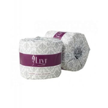 LIVI IMPRESSA 2PLY LUXURY BATHROOM TISSUE 400SHEETx48ROLL 3007