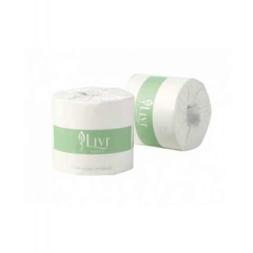 LIVI TOILET ROLL 2P 400 SHEET 48ROLL BASIC 7008